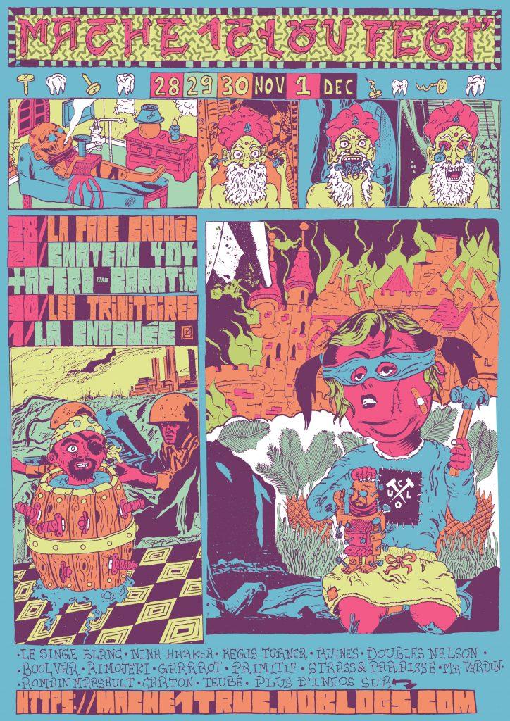 Affiche du festival M1Clou par Val l'Enclume & Raniero Draws